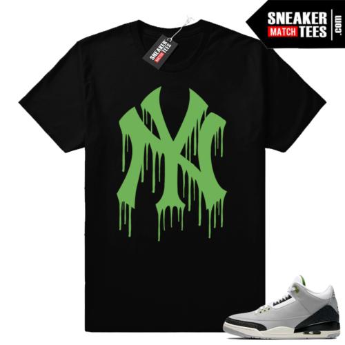 Sneaker tees shirt Jordan 3 Chlorophyll
