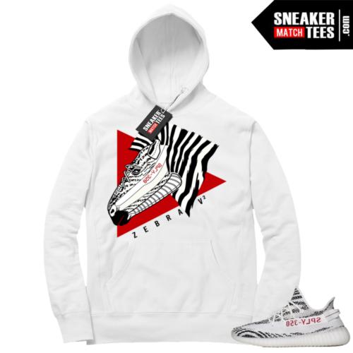 Yeezy Boost 350 Zebra White Hoodie