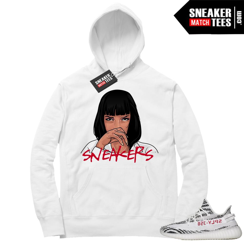 Yeezy Zebra Hoodie Sneakers