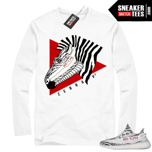 Yeezy Zebra Long Sleeve White shirt