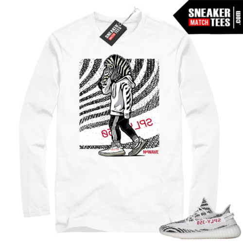 Yeezy Zebra Long Sleeve White tee