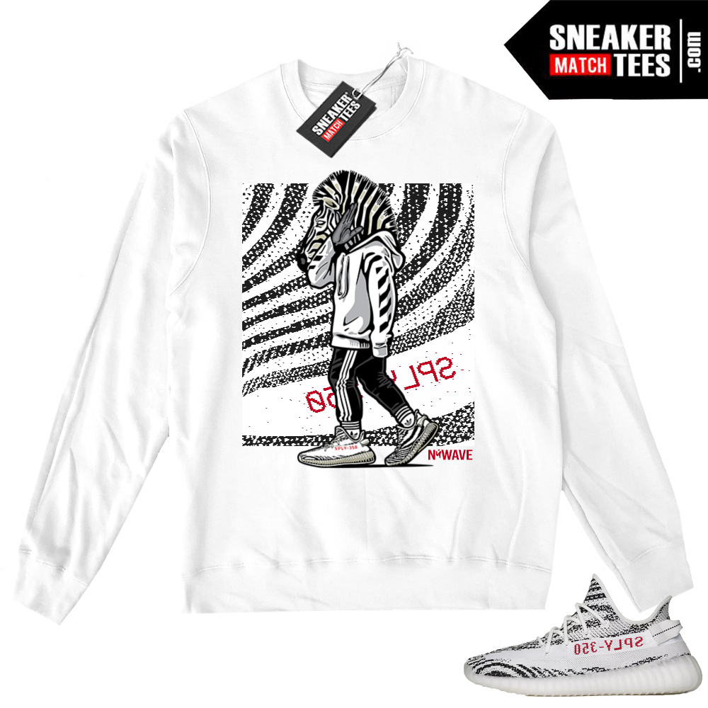 Yeezy Zebra White Crewneck Sweater