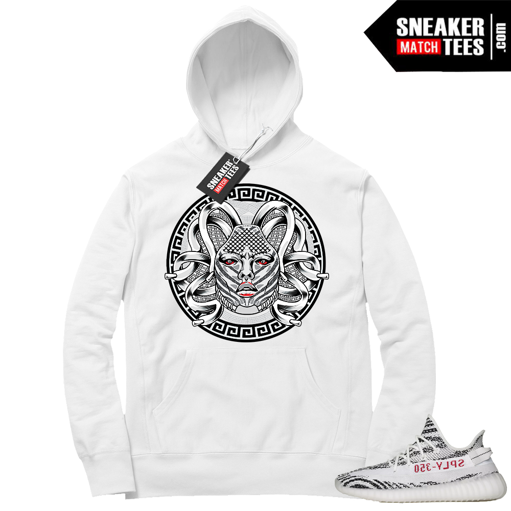 Yeezy Zebra match White hoodie