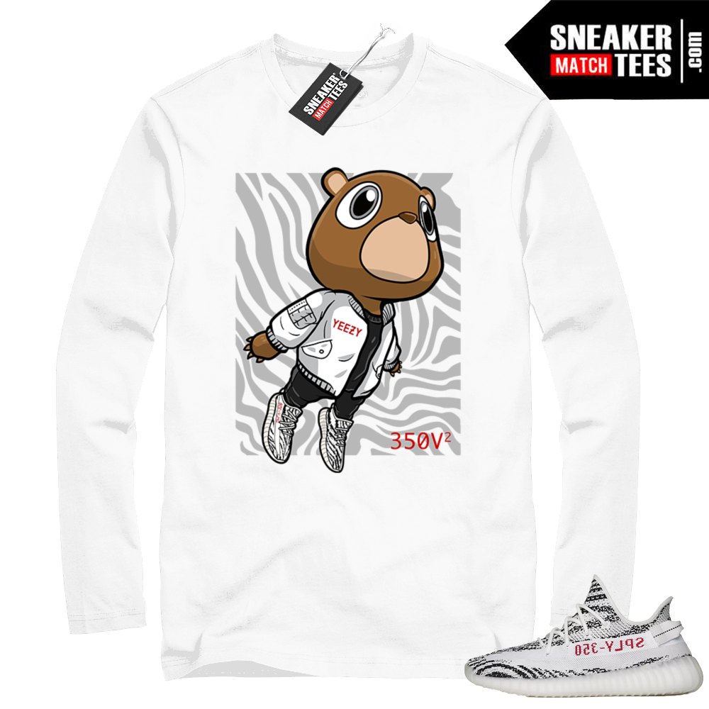 Zebra Yeezy Boost 350 V2 Long Sleeve tee