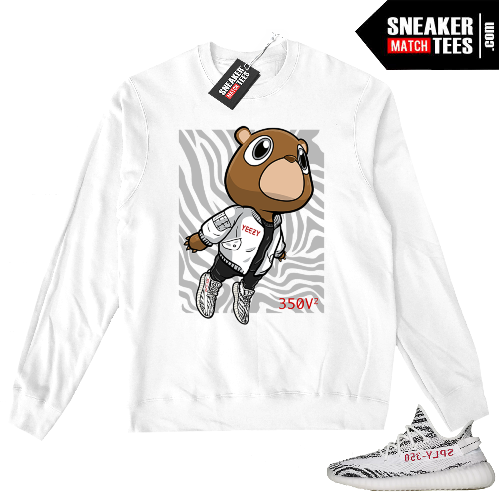 Zebra Yeezy Boost 350 V2 Sneaker Sweater