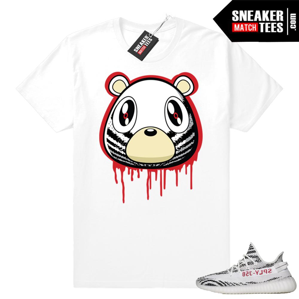Zebra Yeezy Boost 350 t-shirt