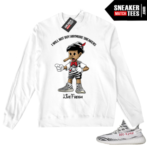Zebra Yeezy Boost Crewneck Sweater