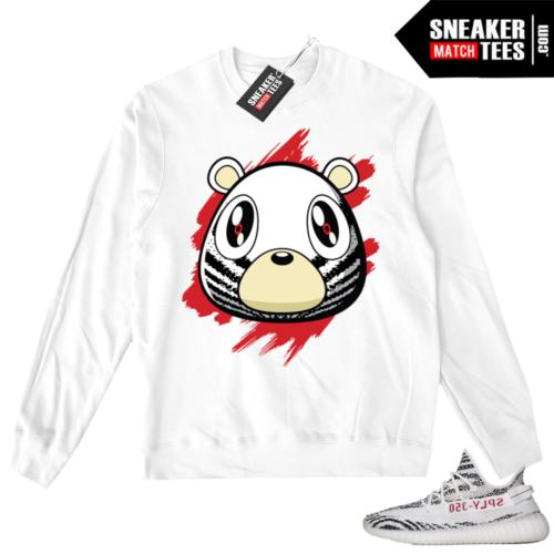 Zebra Yeezy White Crewneck Sweater