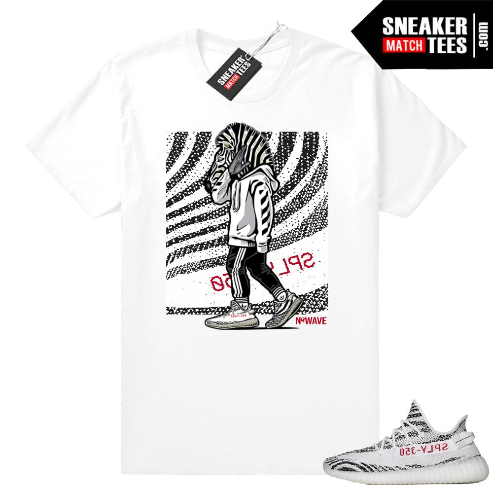 Zebra Yeezy tee shirt