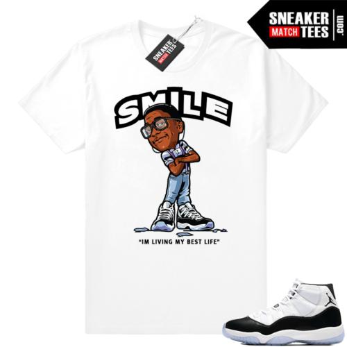 Air Jordan 11 Concord Smile Erkel T-shirt