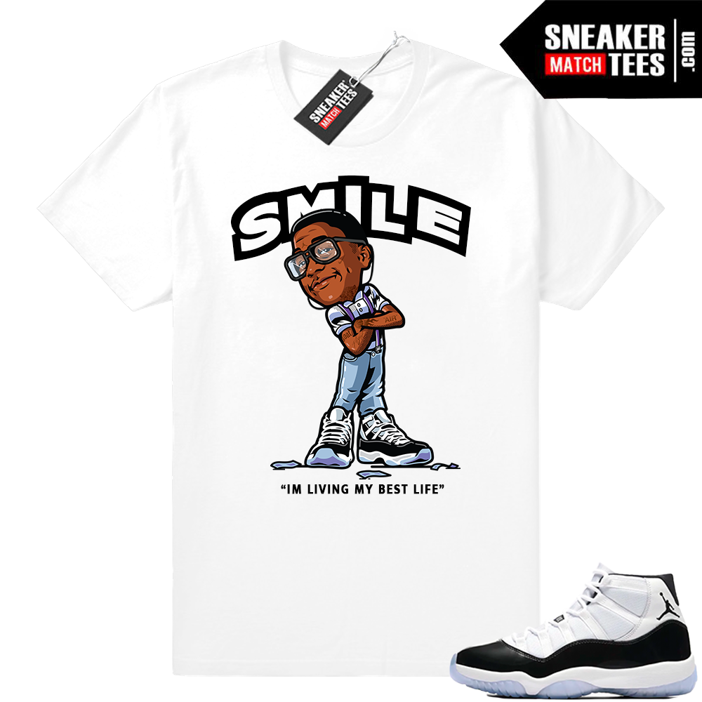 Air Jordan 11 Concord Smile Erkel T-shirt