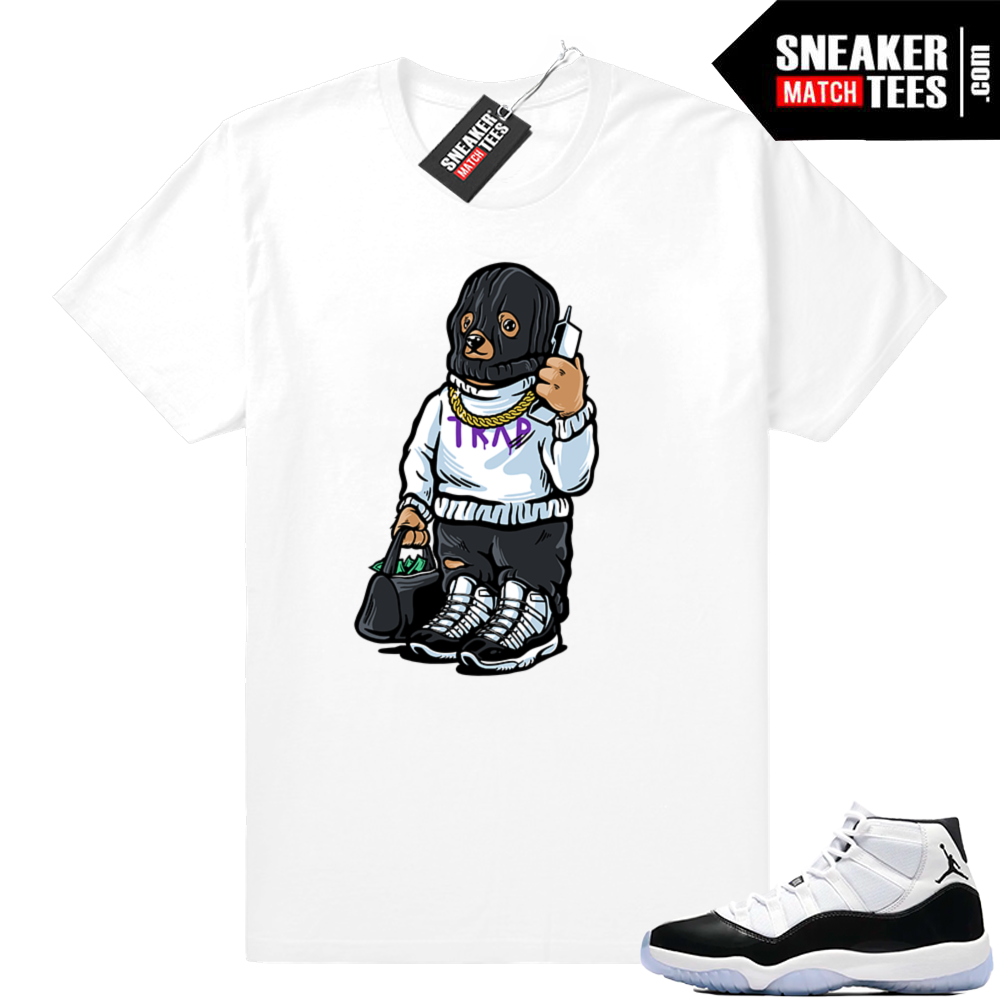Air Jordan 11 Concord Trap Bear white tee