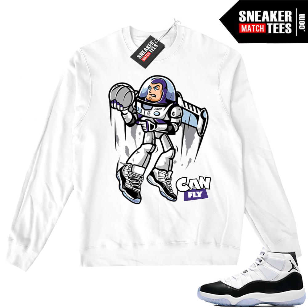 Concord 11 Can Fly White Sweater