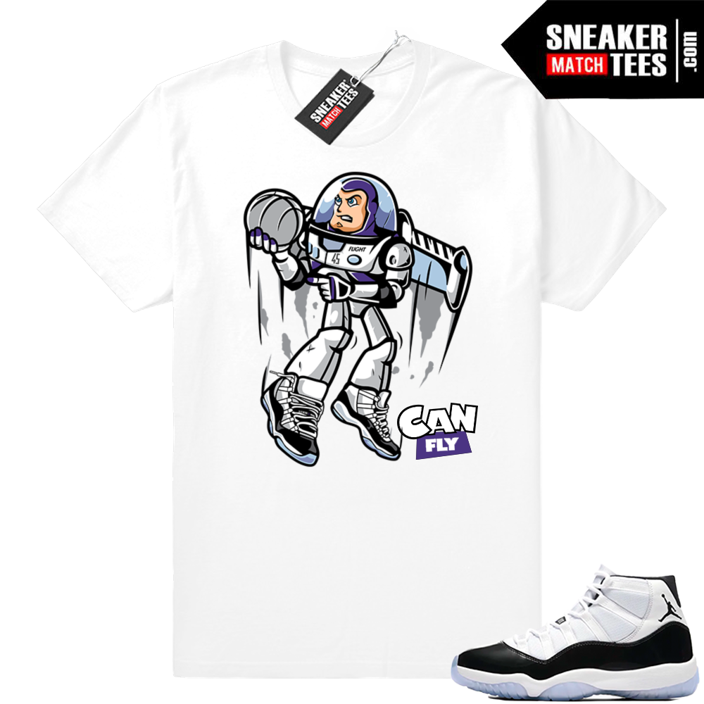 Concord 11 Can Fly White shirt