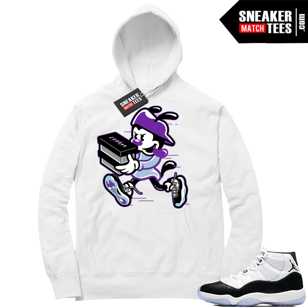 Concord 11 white hoodie match