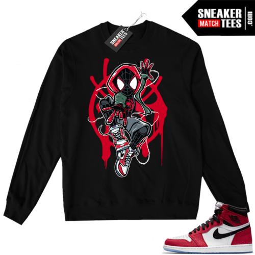 Jordan 1 Spider-man Black Crewneck Sweater