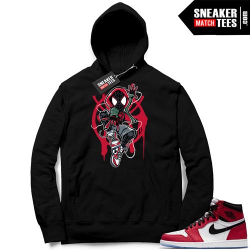 Jordan 1 Spider-man Black Hoodie
