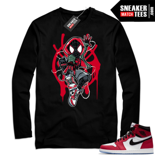 Jordan 1 Spider-man Black Long Sleeve