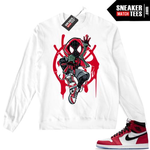 Jordan 1 Spider-man White Crewneck Sweater