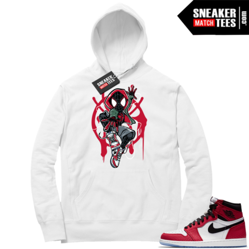 Jordan 1 Spider-man White Hoodie