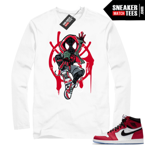 Jordan 1 Spider-man White Long Sleeve