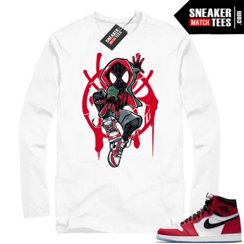 Jordan 1 Spider-man White Long Sleeve