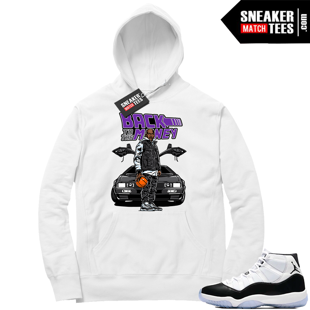 Jordan 11 Concord Back to the Money Hoodie