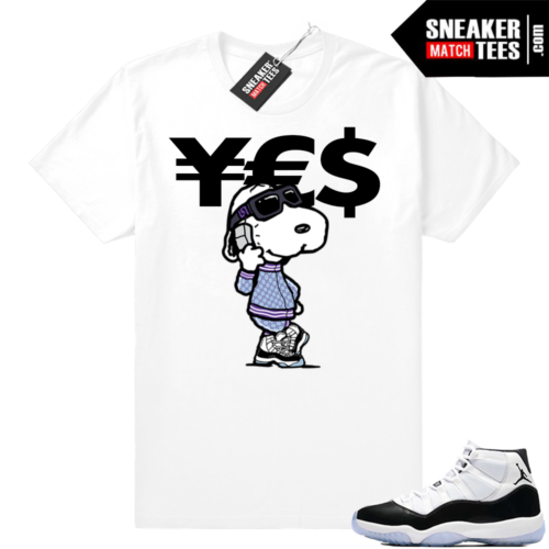 Jordan 11 Concord Currency shirt