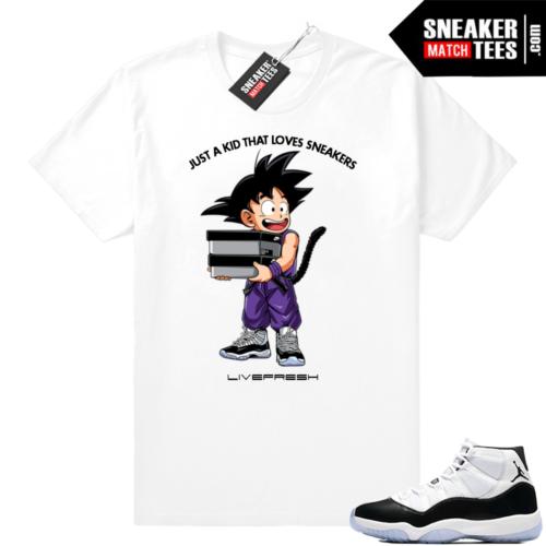 Jordan 11 Concord Just a Kid t-shirt