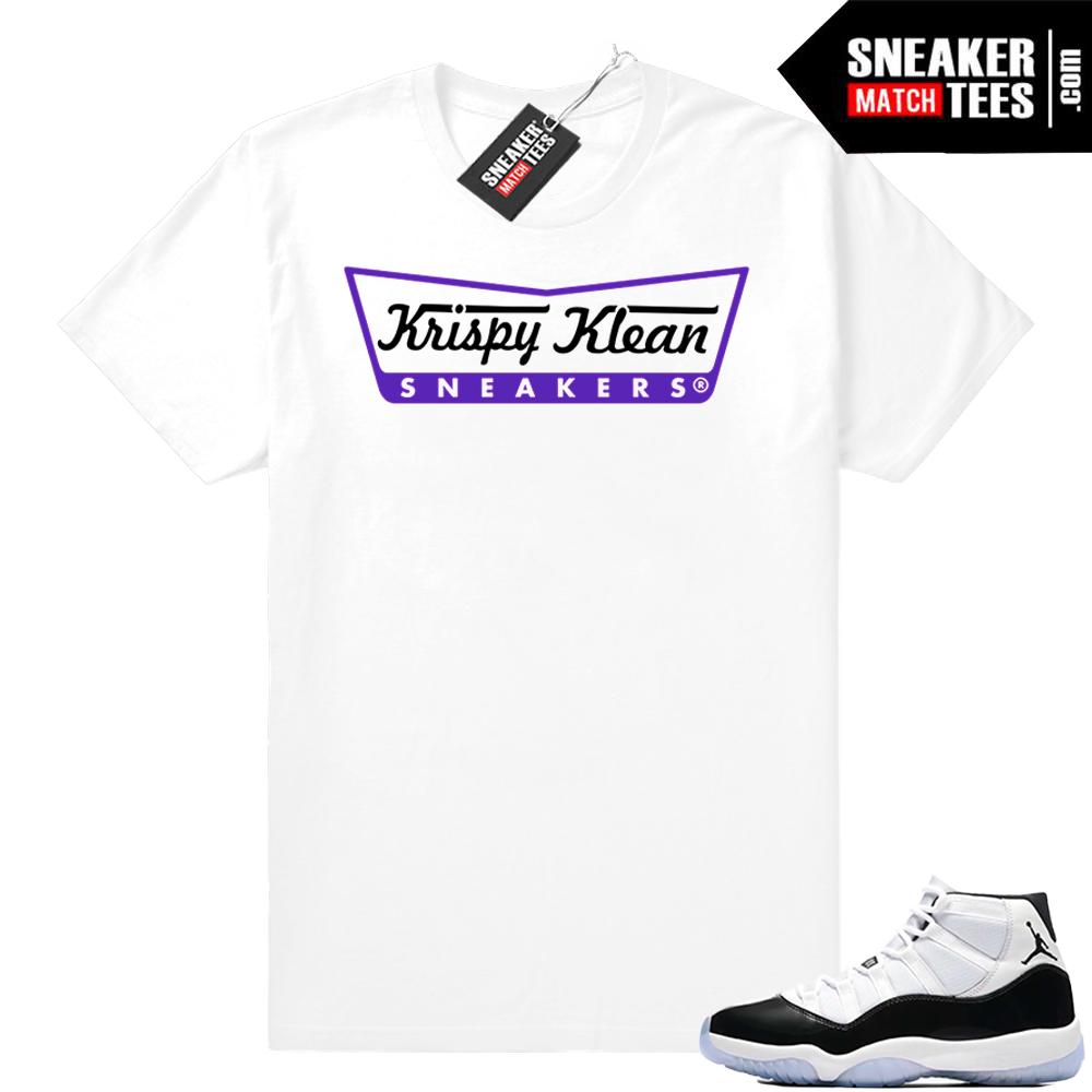 Jordan 11 Concord Krispy Klean Sneakers tee