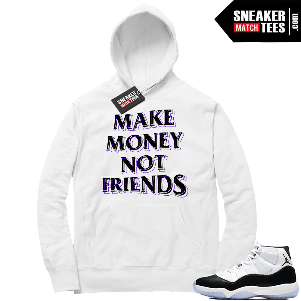 Jordan 11 Concord Make Money Hoodie