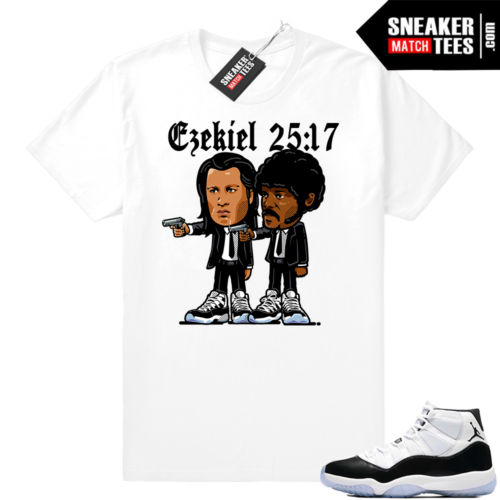 Jordan 11 Concord Pulp Fiction t-shirt