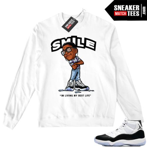 Jordan 11 Concord Smile Erkel sweater