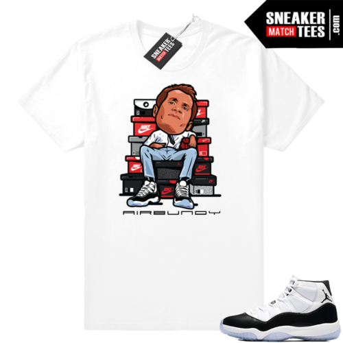 Jordan 11 Concord t-shirt Air Bundy