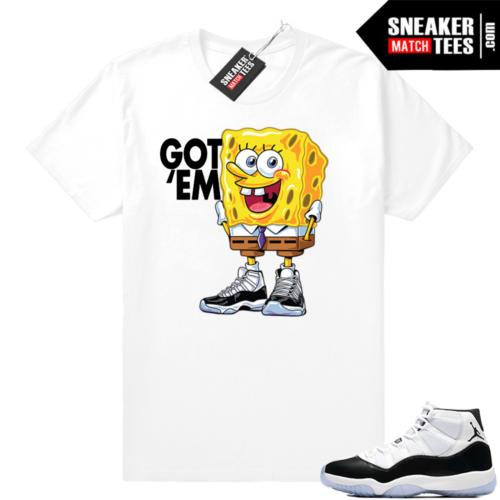 Jordan 11 Spongebob Got em tee