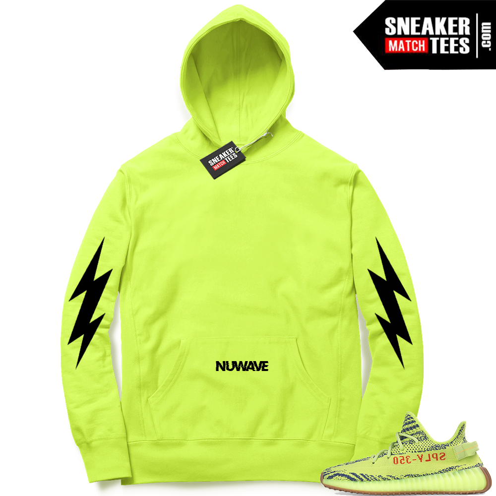 Yeezy Boost Frozen Yellow NuWave Bolts Hoodie