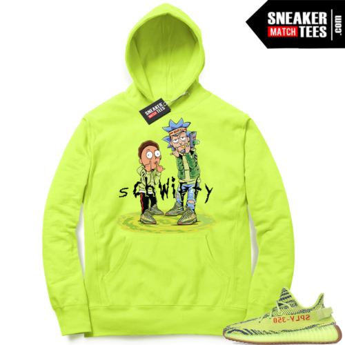 Yeezy Frozen Yellow Ric and Morty Hoodie