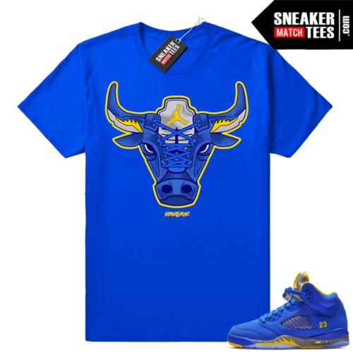 Air Jordan 5 Laney Rare Air Bull t-shirt