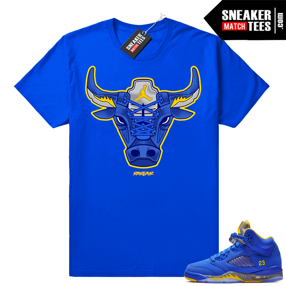 Air Jordan 5 Laney Rare Air Bull t-shirt