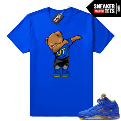 Air Jordan 5 Laney Royal sneaker tees