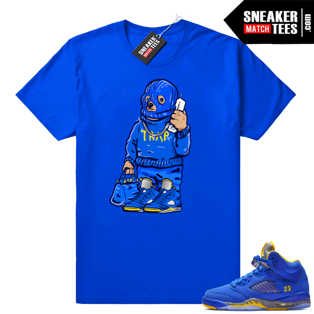 Air Jordan 5 Laney Trap Bear t-shirt
