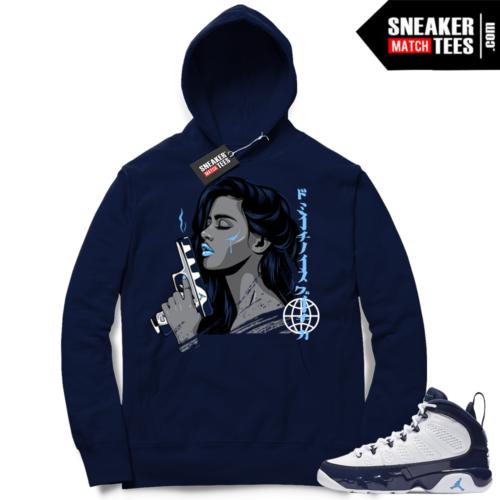 Air Jordan 9 Pearl Blue match Hoodie