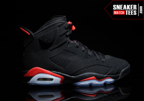 Black Infrared 6s shirts match sneakers _2