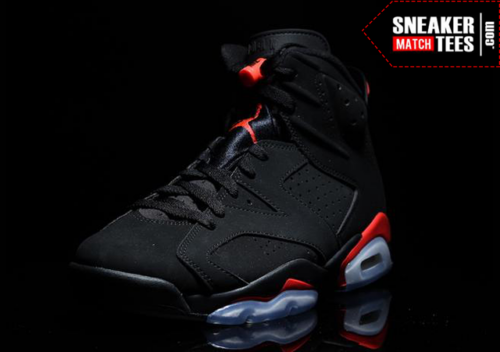 Black Infrared 6s shirts match sneakers _3