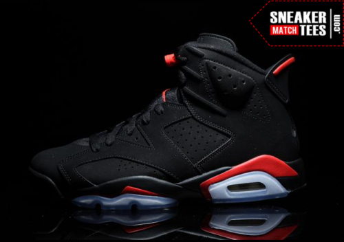 Black Infrared 6s shirts match sneakers _4