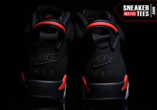 Black Infrared 6s shirts match sneakers _5
