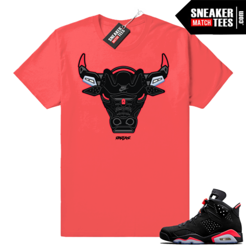 Black Infrared 6s sneaker tee shirts