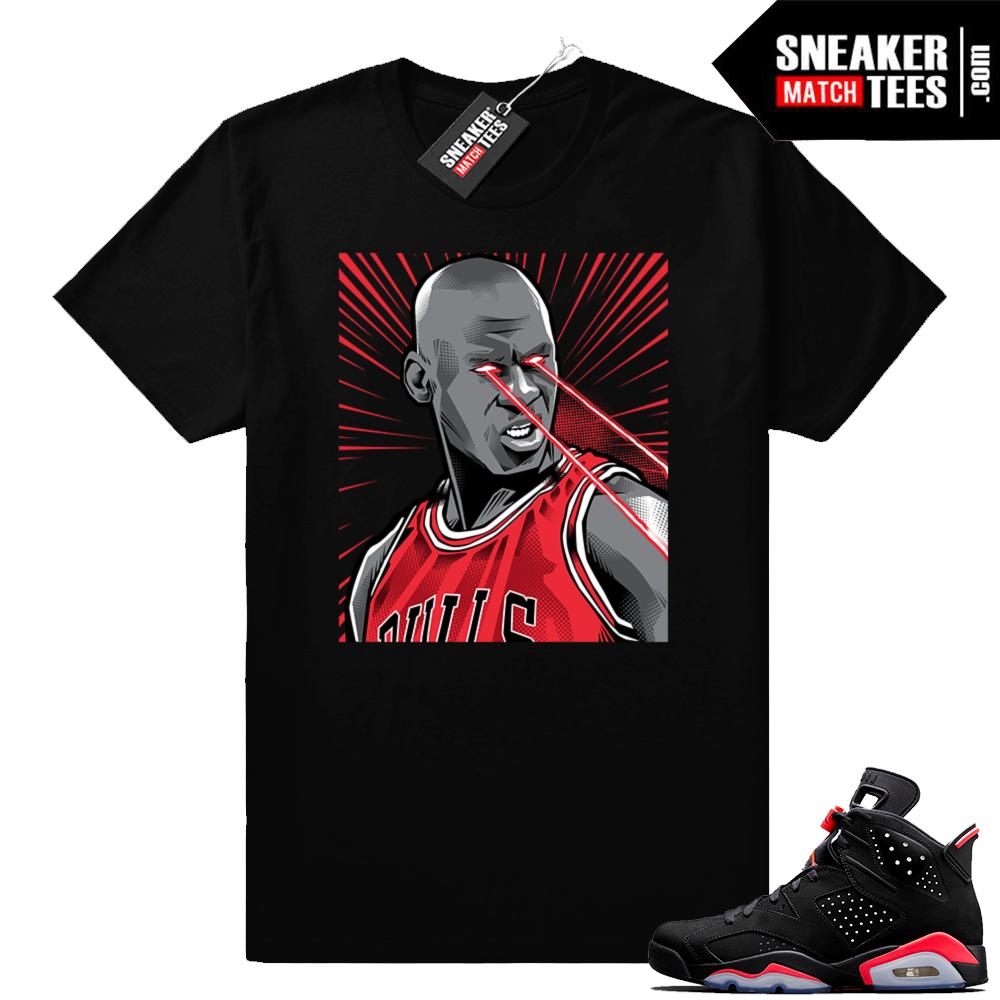Black Infrared 6s sneaker tees