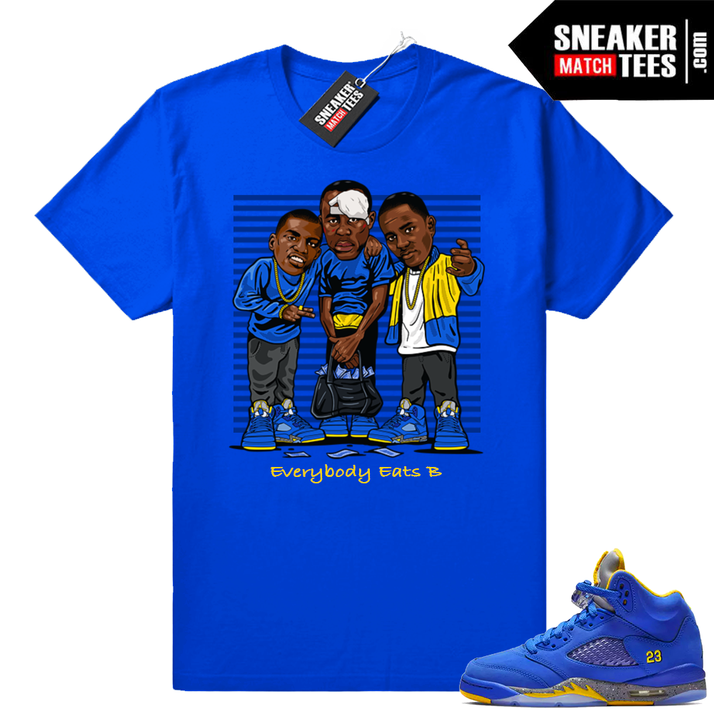 Everybody Eats B Jordan 5 Laney shirt
