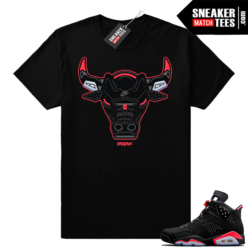 Infrared 6 black Rare Air Bull t-shirt